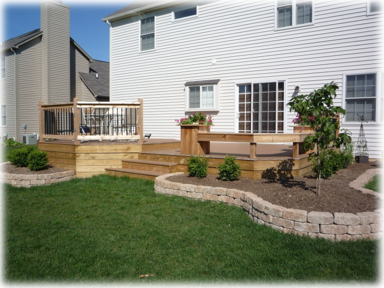 Images Of Landscaping Around Deck : Decks by design custom deck pergola builder fishers